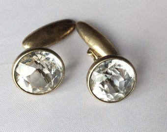 Cufflinks Antique RUSSIAN gold plated sterling SILVER 875 USSR Part of Collection