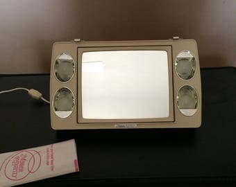Vintage Mirror go Lightly Windmere Make up Mirror Portable Lamp Stand
