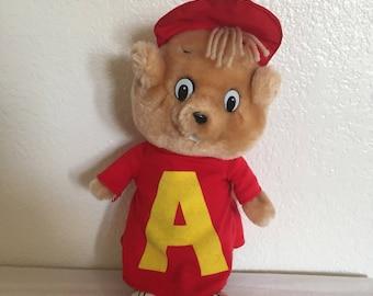 """1983 10"""" Chipmunks """"Alvin"""" plush"""