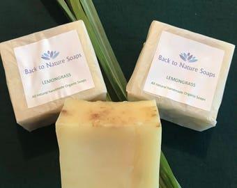 Lemongrass Organic Soap Plus free FREE SHIPPING