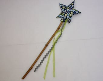 Magic wand mow blue and green fairy or little prince