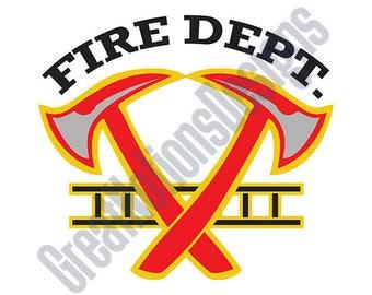 Fire Dept. SVG - HTV - Vinyl Cutting Graphic Art