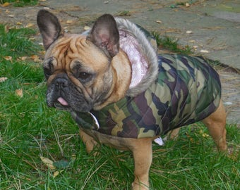 Quilted Camouflage Dog Coat