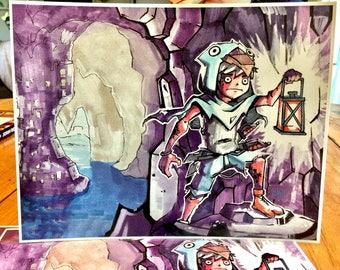 8.5x11 Print - Bird Kid Part One