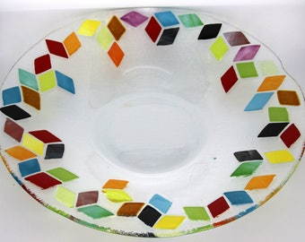 large flat round - Center table - multicolor