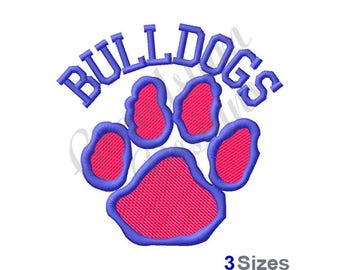 Bulldogs Pawprint - Machine Embroidery Design