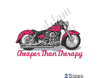 Motorcycle Therapy - Machine Embroidery Design