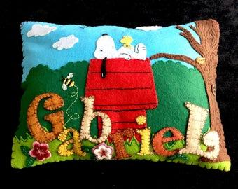 """Wool and felt cushion """"Gabriel"""""""