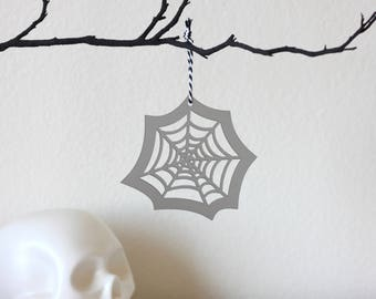 Spiderweb Ornament, Halloween Ornament, Halloween Tree, Halloween Decor, Gothic Decor, Gift Decoration, Halloween Party, Laser Cut Ornament