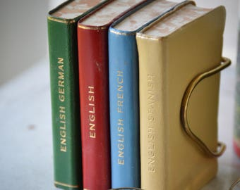 Midget dictionary series with leather bound covers