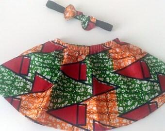 Hair bow skirt girl