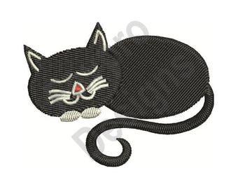 Cat Sleeping - Machine Embroidery Design