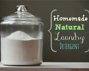 All natural chemical free powder laundry soap