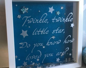 Twinkle Twinkle Little Star, Do You Know How Loved You Are, Love stars, Quote Frame, Nursery Decor, New Baby Frame, Unique Gift