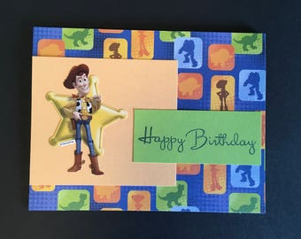 Toy Story Birthday Card, Woody!