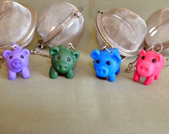 Pig Mesh ball, tea ball, Pig tea ball, meshball, tea infuser, tea maker, pig tea infuser