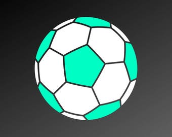 Soccer ball SVG file, Soccer SVG files, Vector files for Cutting, Printing, Web Design projects and much more:)