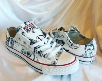 Custom Harry Potter Inspired Shoes - Genuine Converse - Dumbledores Army Fabric