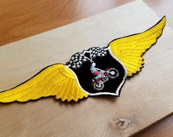 "Motorcycle ""Wings"" 1970s Vintage Motorcycle Patch"