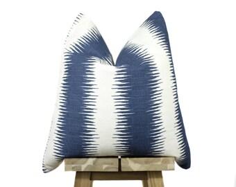 Designer Pillow Cover | Navy and Cream | 'Savannah'