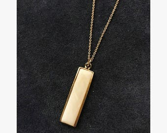 Marbled Bar Necklace