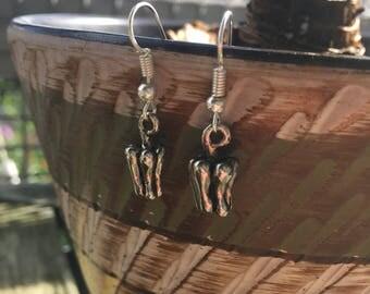 Solid Silver Bell Pepper Earrings