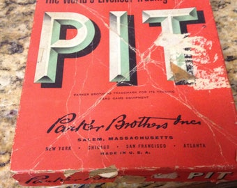 Pit, the world's Liveliest Trading Game! 1959 Parker Brothers, Salem MA