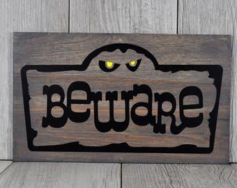 Halloween Decor,Beware,Wood Sign,Halloween Sign,Home Decor,Halloween
