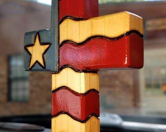 American Flag Cross Ornaments