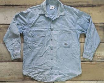 Vintage 90s CK Calvin Klein Jeans Denim Shirt