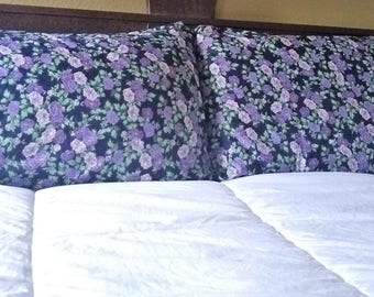 2 - Cotton Floral Print Pillowcases