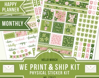 MARCH HAPPY PLANNER, Happy Planner Stickers, March Monthly Kit, March Sticker Kit, St Patrick's Day Planner Kit, Monthly Stickers, 17017
