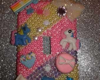 Pony bling light switch plate cover