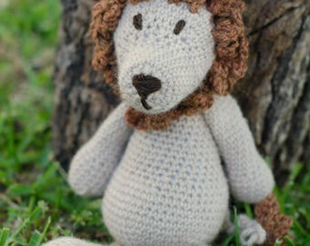 crochet Lion, handmade gift, baby toy, baby decor, natural fibers, handmade lion, birthday gift,