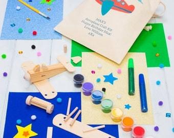 Personalised Make Your Own Mini Wooden Aeroplane Kit