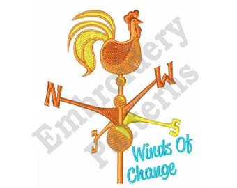 Winds Of Change - Machine Embroidery Design