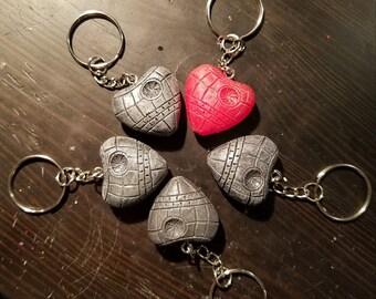 Death Star Heart Keychain