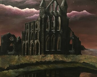 Gothic Whitby Abbey - Hand Finished fine art print