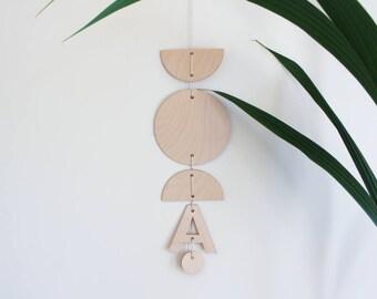 Custom Initial Hanging Mobile, Custom Baby Mobile, Nursery Mobile, Baby Girl Mobile, Moon Cot Mobile, Nursery Wall Mobile, Nursery Decor,