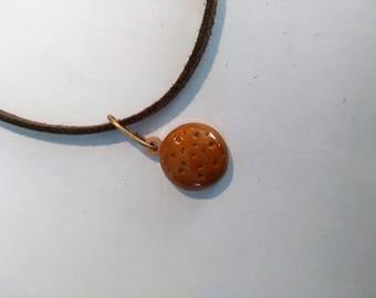 bronze long 37 cm with pendant necklace