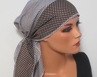 CHEMO scarf TURBAN easily luftigDreieckstuch chemo cloth surgical hood alopecia hair loss rather than a wig cancer Caner