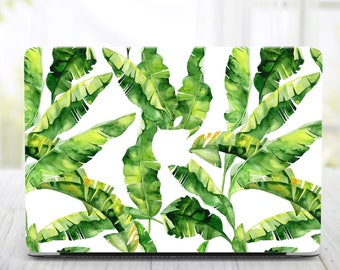 Tropical Leaves MacBook Air 13 Hard Case MacBook Air Case 13 inch Macbook Air Tropical Laptop Case Macbook Pro 13 Case Macbook 2016 Cover 13