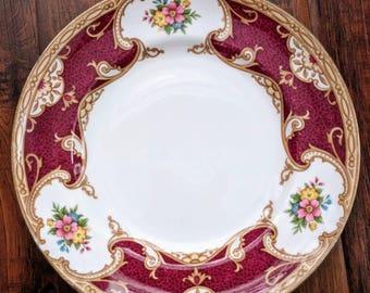 Bone china plate, lady hamilton, tea plate