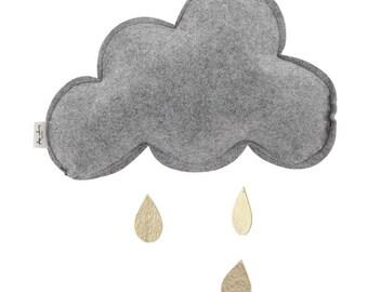 Small Cloud Mobile Grey melange