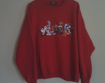 Looney Tunes Red XL sweater