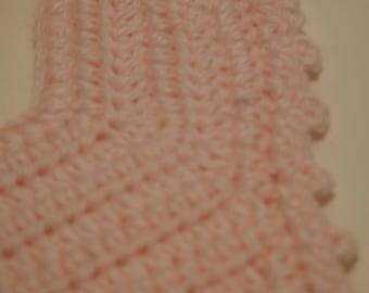 Pink Crochet Bib