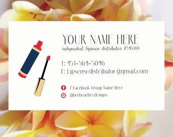 Lipsense Business Card, Lipsense Card, Lipsense, Lipsense Business, Senegence, Lipsense Party, Lipsense Printable, Lipsense Distributor