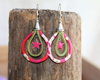"Earrings ""fabric"" La touch' Emilia."