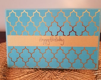 Blue Sunshine Birthday  Card