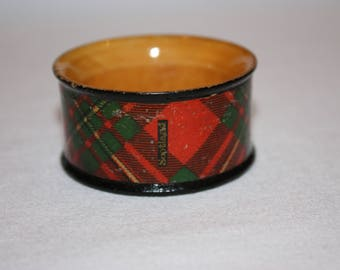 Mauchline Tartanware MacGregor Napkin ring   victorian treen table decor